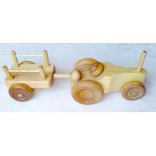 Traktor med släp, liten