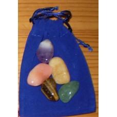 Stenpåse, blå