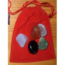 Stenpåse, röd