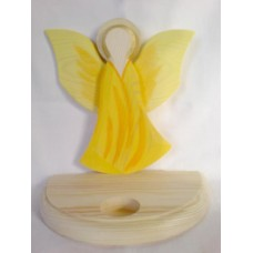 Ljusstake, gul, ängel 24