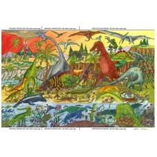 Golvpussel - Dinosaurier, 96 bitar