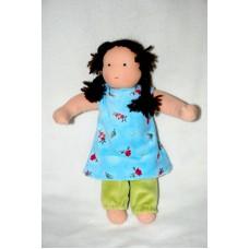 Waldorfdocka - flicka, 30 cm, brunt hår