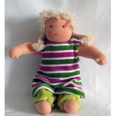 Waldorfdocka - flicka, 27 cm, ljust hår