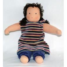 Waldorfdocka - flicka, 32 cm, brunt hår
