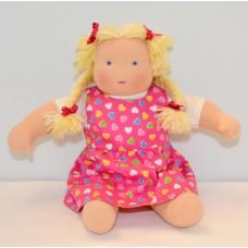 Waldorfdocka - flicka, 33 cm, ljust hår