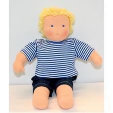 Waldorfdocka - pojke 37 cm, ljust hår