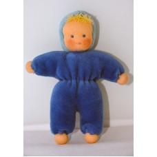 Minidocka - blå, 13 cm