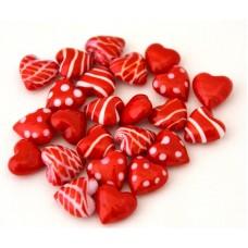 Glas - Hjärtan, blandade, 24 st
