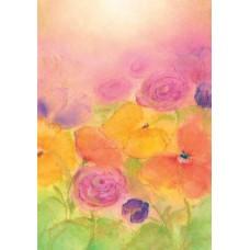 Vykort - BeB1014 - Färgglada blommor
