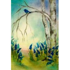 Vykort - BeB1016 - Blå hyacinter