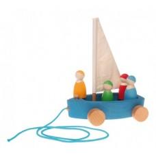 Segelbåt på hjul, stor strandseglare