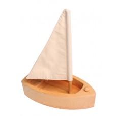 Segelbåt, stor - natur, röd eller blå