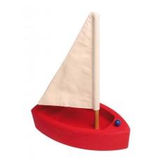 Segelbåt, stor - röd