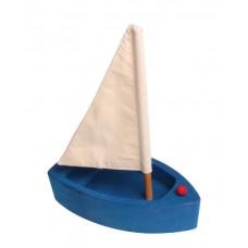 Segelbåt, stor - blå