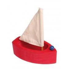 Segelbåt, liten - röd