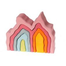 Hus - bågar, 7 delar, rosa