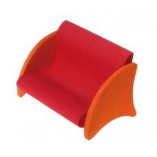 Soffa, röd