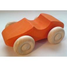 Liten träbil, orange