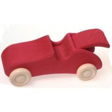 Sportbil med baklucka, röd