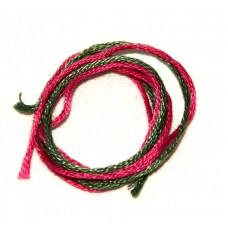Garn, grön-rosa