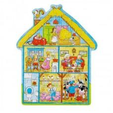 Träpussel - Bondens hus, 43 bitar