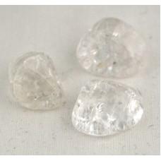 Trumlad sten - Bergkristall, krackelerad