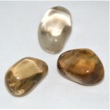 Trumlad sten - Citrin, naturlig