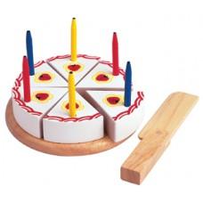 Tårta, grädde m ljus