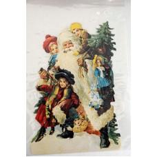 Bokmärke - Jultomte med barn