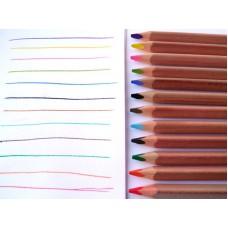 Färgpennor, 12 st jumbo