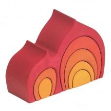 Lök-stuga, röd