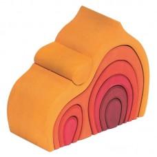 Lök-stuga, gul-röd