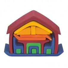 Möbel-hus, röd