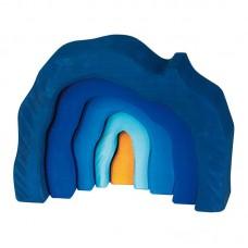 Grotta, blå
