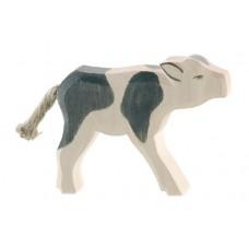 Ko - Kalv, svart, diande