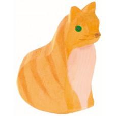 Katt  - sittande, gul