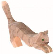 Katt - hoppande, grå