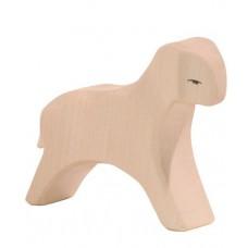 Får - Lamm, springande, vit