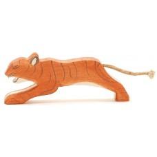 Tiger, stor, hoppande
