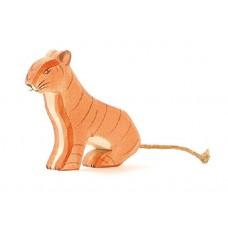 Tiger, stor, sittande