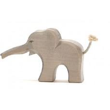 Elefant, unge, rak snabel