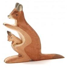 Känguru, hona med baby