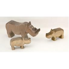 Noshörning med 2 ungar