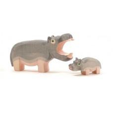 Flodhäst, 2 st -  stor och unge