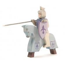 Riddare + häst, blå