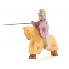 Riddare + häst, gul