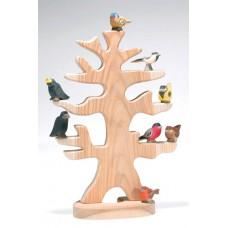 Fågelträd med 9 st fåglar