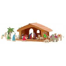 Komplett Julkrubba med stall - Mini 2
