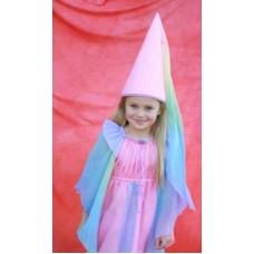 Prinsessklänning och jungfruhatt - rosa
