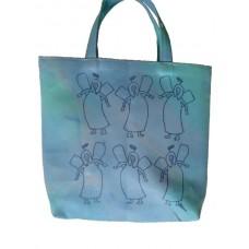 Barnväska - flera änglar, blå